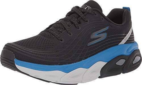 Skechers Men's Max Cushioning Ultimate-Stability Performance Walking & Running Shoe Sneaker, Black/Blue, 9 4E US