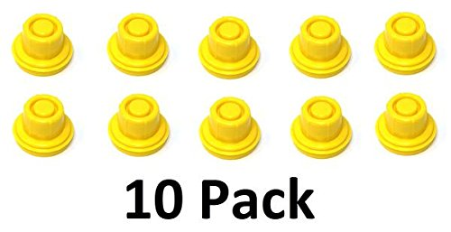10 Pack Replacement Yellow SPOUT CAPS Top Hat Style fits # 900302 900092 Blitz Gas Can Spout Cap fits self Venting Gas can Aftermarket (SPOUTS NOT Included)