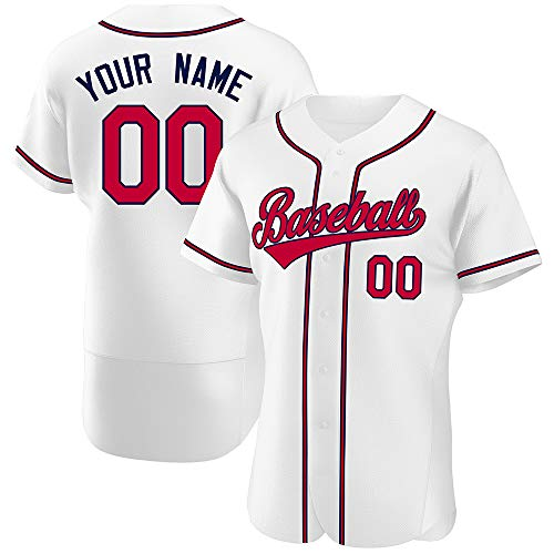 Custom Baseball Jersey Full Button Shirts Personalized Stitched Team Name and Number for Adult/Boys