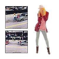 フラワーガーデンの建設のおもちゃ 1pc 1/64スケールジオラマフィギュア人ファッションビルディング電車デスク装飾コレクションアクセサリー ジオラマ ( Color : Style 3 )