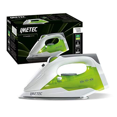 Imetec Titanox Eco K107 Ferro da Stiro, Tecnologia a Risparmio energetico, Piastra in Acciaio Inox autopulente, Vapore Regolabile, Getto di 40 g, Lunghezza Cavo 2 mt, 2000 W, Inossidabile