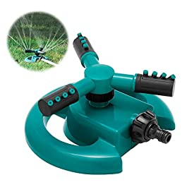 HTLY SPR Arroseur automatique pour pelouse – Rotation à 360 degrés – 3 bras réglables – Système d'arrosage pour plantes…