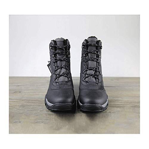 FACAI Botas De Trabajo Magnum para Exteriores Impermeables Senderismo Senderismo Caza Botas para Hombres Cuero Espacial Senderismo Escalada Zapatos Goretex,Black-45
