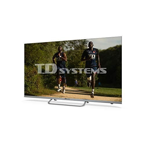TD Systems K50DLX11US Smart TV 50 Pollici 4K Android 9.0 e HBBTV 1500 PCI Hz UHD HDR, 3X HDMI, 2X USB, DVB-T2/C/S2, Modalità Hotel, Nero