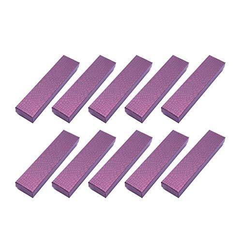 Milageto Elegante caja de regalo de cartón de 10 unidades con fundas para joyas con pulsera de esponja.