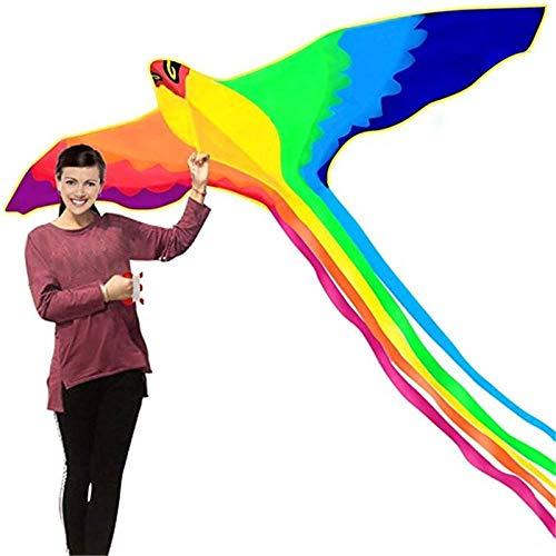 NGHXZ Alter Phoenix Kite mit langem Buntem Schwanz mit 30M Grifflinie Outdoor Fun Sports Kinderspielzeug, 1 Set Phoenix Kite