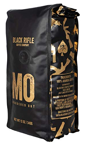 Black Rifle Coffee Company Murdered Out Dark Roast Whole Bean Coffee, 12 Ounce Bag