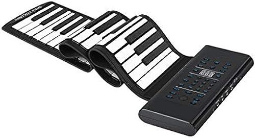 LINGLING-Tastatur Hand Rolle Piano 88 Key Verdickung Erwachsene Anf er Eintrag Tragbare Professionelle Version Folding Elektronische Tastatur (Farbe   Schwarz Größe   88 Key)
