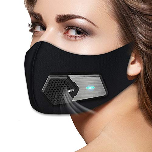 Smart Electric Anti Dust Face Protector Shield,Washable Reusable Air Purifiers for Running Cycling Outdoor Sports