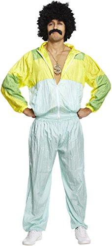 Emmas Kleiderschrank 1980er Jahre Kostüm für Männer - Perfekt Shell Anzug für EIN Stag Party-Outfit UK Größe M-XL (Men: Medium, Green)