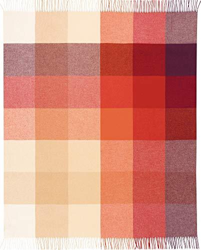 Biederlack Decke Sofaüberwurf Plaid Baumwolle Terra 130x170cm