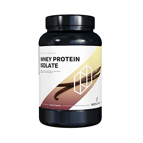 Premium Whey Protein Isolat für Muskelaufbau & Abnehmen in leckeren Geschmäckern | Low Carb Eiweiß-Shake, Eiweiß-Pulver mit Aminosäuren (BCAA) | NeoSupps Protein Pulver – Vanille 1kg