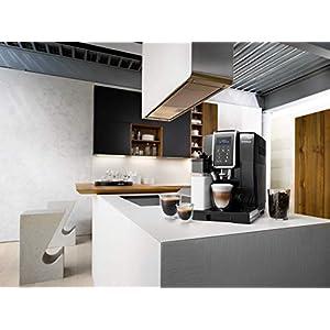 De'Longhi Dinamica ECAM 350.55.B Kaffeevollautomat mit Milchsystem, Digitaldisplay mit Klartext, 2-Tassen-Funktion, Großer 1,8 Liter Wassertank, schwarz