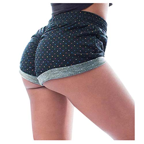 Leggings Yoga Shorts Capri Frauen Basic Slip Bike Shorts Kompressionstraining (L,Mehrfarbig)