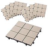 タカショー 敷くだけタイル 磁器A ベージュ 300×300 1セット(9枚り)
