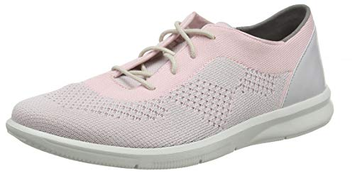 Rockport Women's Ayva Washable Knit Tie Trainers, Pink (Pink 001), 8