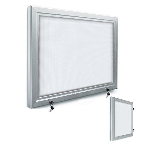 Schaukasten für den Innenbereich, abschließbar | 4 Größen zur Wahl | Sicherheitsglas | Infokasten/Aushang für Schule, Restaurant etc. (DIN A 1)