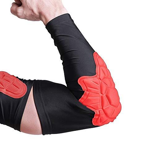 DGYAO Elleboog Brace Voor Tendonitis Mannen Compressie Arm Lange Mouw Protector Gear Hand Elleboog Guards Voor Skateboard Scooter Voetbal (Single Wrap)