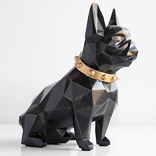 DJXM Bulldog Francese Bambola Moneta Salvadanaio Famiglia Soggiorno Studio Scrivania Decorazione Salvadanaio Salvadanaio Regalo per Bambini Nero
