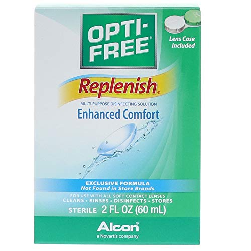 OPTI-FREE Replenish Multi-Purpose Disinfecting Contact Lens Solution, 2 oz (Pack of 3) B