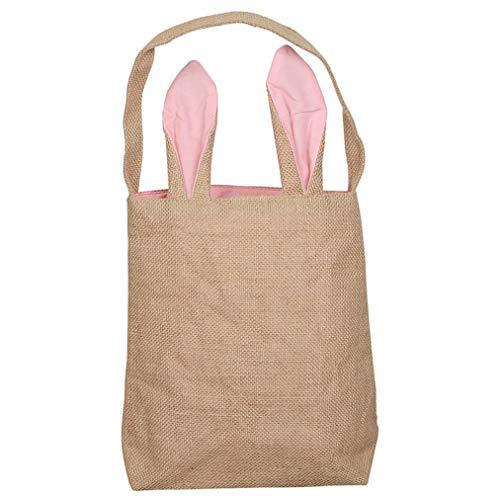 Sevenfly Osterhasen Tasche Ostern Korb Tote Handtasche tragen Eier Geschenke für Osterfest, Pink