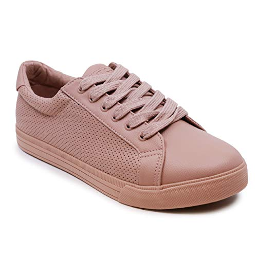 Nautica Calera 4 Women Lace - Up Fashion Sneaker Casual Shoes-Calera 4-Mauve Perf-8.5