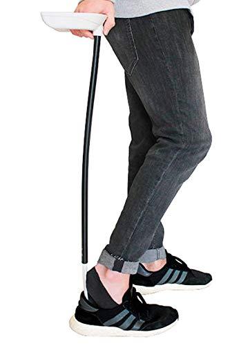 KMINA - Schoenlepel voor Rugpijn, Schoenlepel Lang Metaal, Schoenhelper Lang, Orthopedische Schoenlepel, Aankleedhulp Schoen, Wit