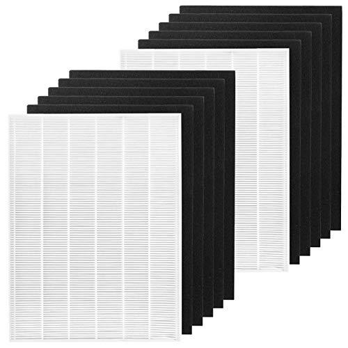FFsign 2 filtros HEPA Ture + 10 filtros de carbono de repuesto compatibles con Winix 115115 Filtro A Tamaño 21 para Purificadores de Aire Winix Plasma Wave C535 P300 5500 5300-2 6300 6300-2 AM90 ✅