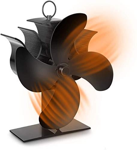 ストーブファン エコファン PAIPU 石油ストーブ ファン 4ブレード 電源不要 薪ストーブファン 火力熱炉ファ...