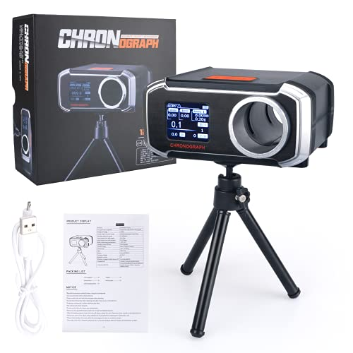 ACTIONUNION Bluetooth Airsoft Shooting Chronograph Digital Gun BBS Speed Tester Measuring with Tripod LCD Screen Display USB Charging Support Mobile Phone APP Hunting Tactical New!