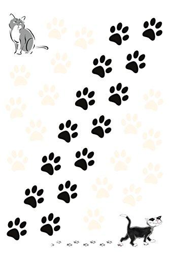 carstyling XXL Aufkleber Katzenpfoten 300 x 200 mm schwarz/weiß ~ schneller Versand innerhalb 24 Stunden ~