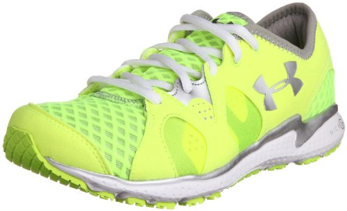 Under Armour Womens Micro G Neo Mantis Running Shoe High Vis Yellow/White/Metallic Silver Size 11 (Under Armour 4d Foam Micro G Womens)