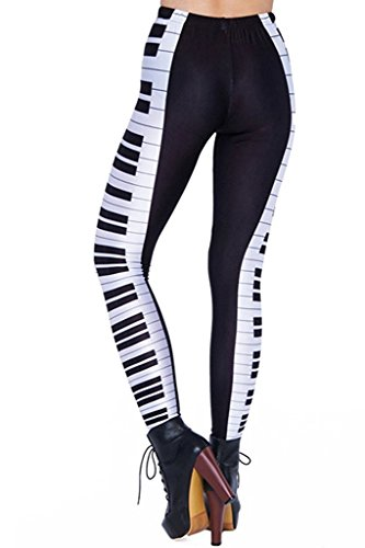 Le legging touches de piano pour femme pianiste