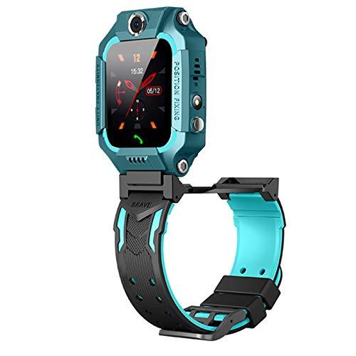 Dsqcai Children's Smart Watch, mit Einer SIM-Karte wasserdichte Smartwatch-Kinderuhr, geeignet für Android iOS Dual Camera SOS Voice Chat,B