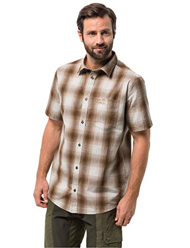 Jack Wolfskin Hot Chili Shirt Hommes, Sand Dune Checks, S