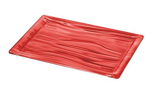 Guzzini 20170065 Plateau Rectangulaire Taille L Rouge Transparent 3 x 46 x 32 cm