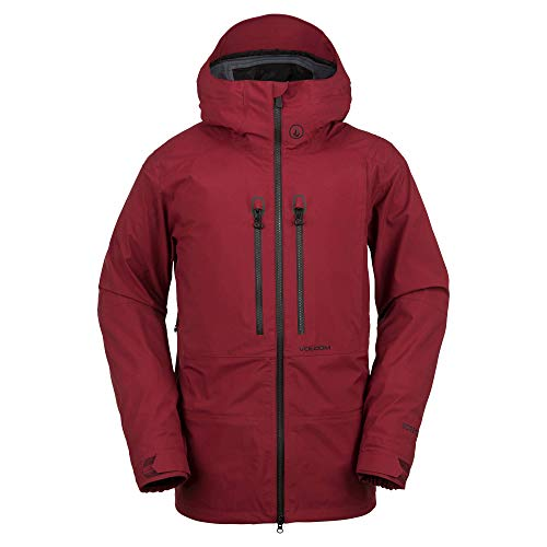 Volcom Men's Guide Gore-Tex Flannel Back Snow Jacket, Burnt red, Extra Large