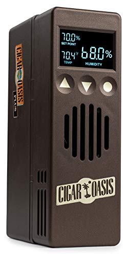 Cigar Oasis Plus 3.0 Electronic Humidifier For 4-10 cubic Ft. (300-1500 Cigar Humidors) Small Cabinet & End-Table Humidors – The Original Set It and Forget It Humidification Solution For Any Style Cigar Humidor