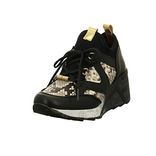 Cetti Damen Sneaker Midcut Sneaker C-1204SRA Snake Black White schwarz 716630