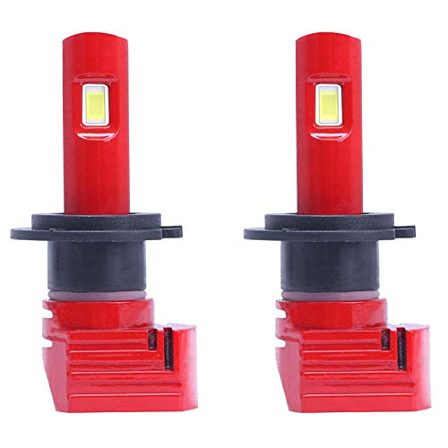 Mogzank 1 Par Rojo X11 LED Bombillas para Faros Delanteros de Coche H7 LáMparas LED para Coche con 8000K 1860 CSP LED Chip 72W 10000LM