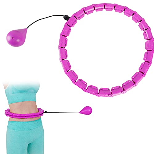 Smart Exercise Weighted Hula Hoop for Adults Weight Loss Fitness Hula Hoops Smart 24 Sections Detachable Adjustable Hoola Hoop