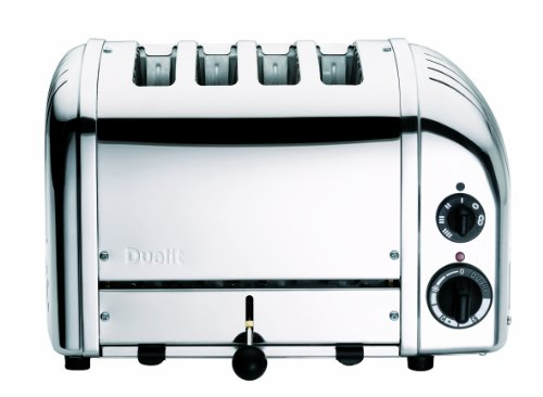 Dualit NewGen Polished Chrome 4 Slot Toaster, 4-Slice