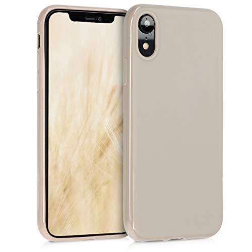 kwmobile Hülle kompatibel mit Apple iPhone XR - Handyhülle - Handy Hülle in Creme matt