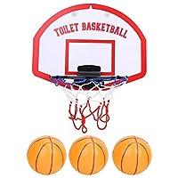 バスケットボールゲーム Jadeshay ミニバスケットボール 子供用おもちゃ 3つボール付き 壁掛け式(吸盤) 贈り物 トイレ/入浴中/室内/アートドアなどに適用