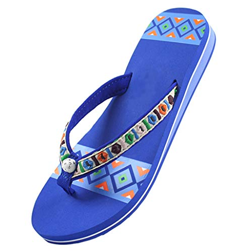 YHshop Pantuflas Playa Señoras de la Moda Sandalias Sandalias de Verano Zapatos de Playa al Aire Libre Plana Zapatillas Casuales Zapatos de Ducha de Caucho Natural 3 Colores Sandalias