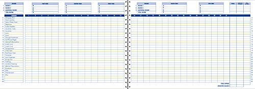 Adams Home Office Budget Book, Weekly/Monthly Format, 10 x 7 Inches, White (AFR31),ABFAFR31