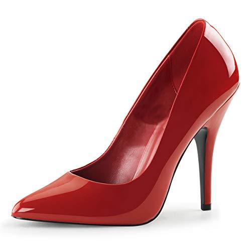 Higher-Heels PleaserUSA Pumps Seduce-420 Lack rot Gr.39