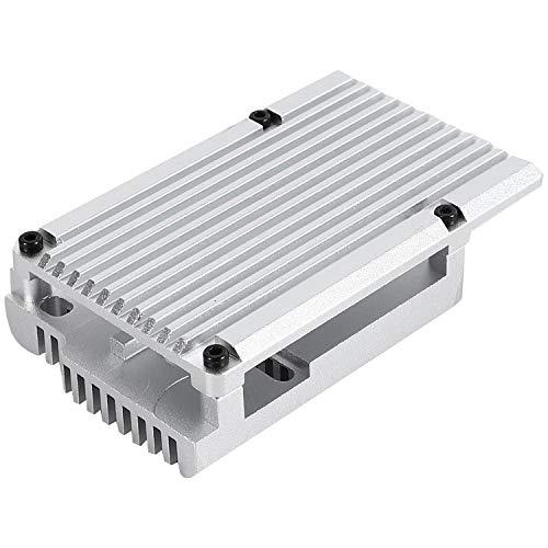 WOVELOT para Raspberry Pi 4 Modelo B Armadura Protectora Caja de AleacióN de Aluminio/Carcasa de Enfriamiento Pasivo Caja de Metal DisipacióN de Calor Solo para Pi 4B (Plata)