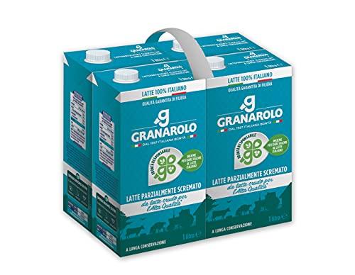Granarolo Latte UHT Parzialmente Scremato, Formato scorta 4x1L