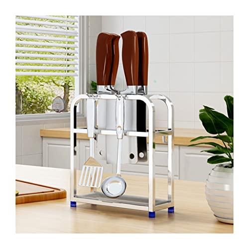 Portacuchillos cocina Soporte de cuchilla de acero inoxidable Cuchillo de pared Cuchillo de cocina de pared Estante de almacenamiento integrado Cuchillo de cocina Rack de comida Bloque cuchillos vacío